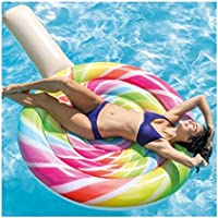 TrAdE shop Traesio® MATERASSINO ISOLA GONFIABILE LOLLIPOP LECCA LECCA MARE PISCINA 208X135CM