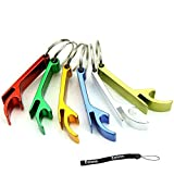 Estone 5pcs Pocket Key Chain Beer Bottle Opener Claw Bar Small Beverage Keychain Ring