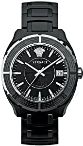 Versace Unisex Watch 02ACS9D009 SC09 with Round Black Date Dial and Black Ceramic Bracelet