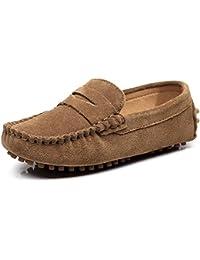 cad28b48a Shenn Chicos Chicas Linda Comodidad Ponerse Ante Cuero Mocasines Zapatos