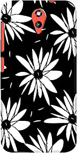 DailyObjects Chic Floral Black And White Daisy Pattern Case For HTC Desire 620