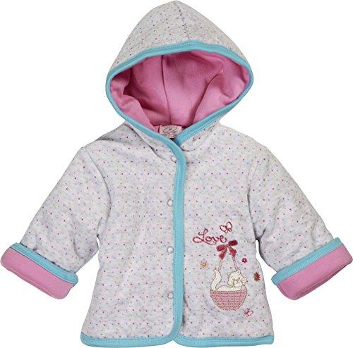 Schnizler Baby-Mädchen Jacke Jäckchen Nicki Love Wattiert, Oeko-Tex Standard 100, Grau (Grau/Melange 37), 56