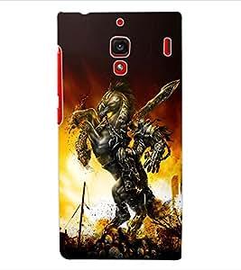 ColourCraft The Warrior Design Back Case Cover for XIAOMI REDMI 1S