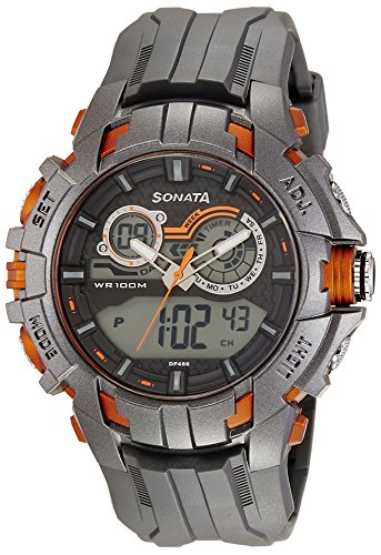 51dqHO33t5L - Sonata 77045PP03J Ocean digital for Men watch