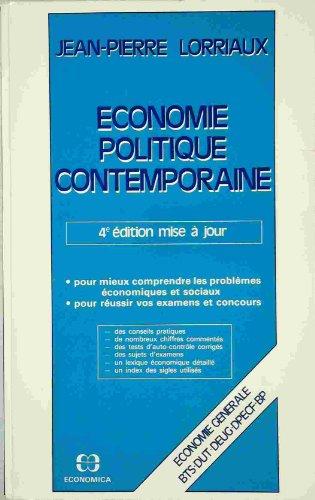 Économie politique contemporaine : économie générale, BTS, DUT, DEUG, DPECF, BP