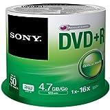 Sony 50DPR47SP DVD regrabable - DVD+R vírgenes (4,7 GB, DVD+R, 120 min, Eje)
