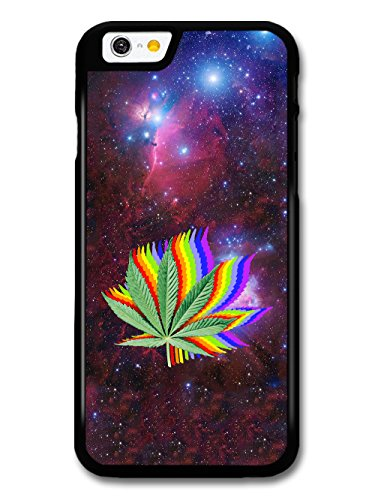 Marijuana Leaf in Space Rainbow Trippy Weed Design hülle für iPhone 6 6S