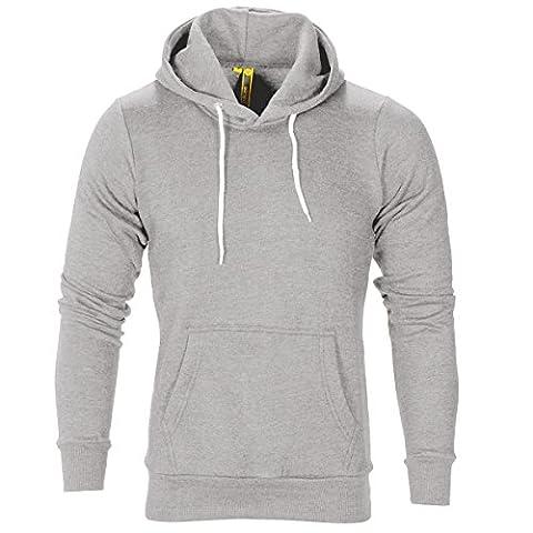 Raiken Apparel Flex Fleece Pullover Hoody-Grey-L
