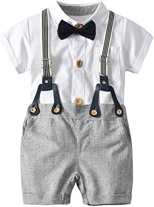 QTONGZHUANG Tong Ha Yi Costume européen et américain garçons garçons garçons Blanc Robes Bavoir col Papillon Gentilhomme Trois pièces B07G2HRFQ5 | Réputation D'abord  882d47