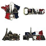 Bella 4pz Magneti per FrigoriferoCalamite da Frigo Viaggio Souvenir Torre Eiffel Francia Parigi Fridge Magnet Sticker