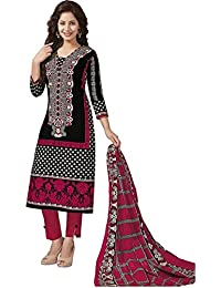 Baalar Women's Cotton Unstitched Dress Material (1009_Multicolor_Free Size By Onkar Trading)