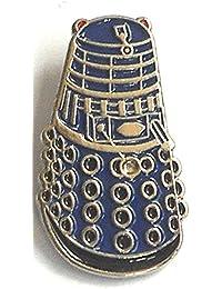 Metal Enamel Pin Badge Doctor Dr. Who Dalek Blue