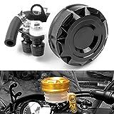 Motorrad Racing CNC Billet Vorderradbremse Tank Hauptbremszylinder Ölbehälter Universal passend für Aprilia Ducati Kawasaki Yamaha