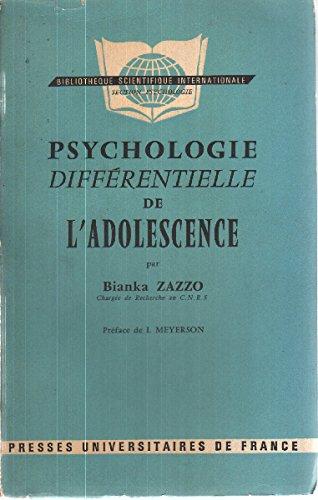 Psychologie diffrentielle de l'adolescence
