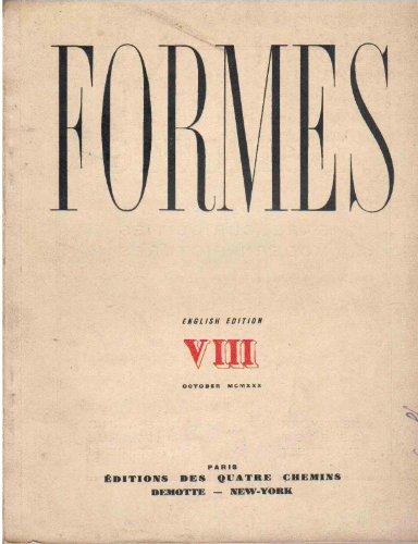 Formes numro VIII - October 1930