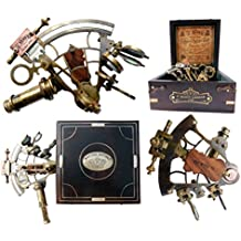 J. Scott London Brass Ship Sextant with Hardwood Box. C-3082 by Maritime Museum Store