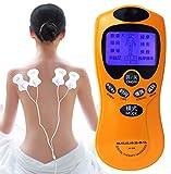 TENS Maschine Muskel Stimulator Haushalt Multifunktion Schulter Zervikal Wirbel Elektronisch Therapie Digital Meridian Impuls Elektrotherapie Massagegerät Für Zurück Schmerzen Linderung,Orange