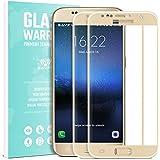 Galaxy S7 Verre Trempé Film Protection écran - SAVFY 2-Pack Glass Screen Protector Vitre Tempered Pleine Couverture Inrayable 9H et Ultra Résistant Indice Dureté pour Samsung Galaxy S7 - Or