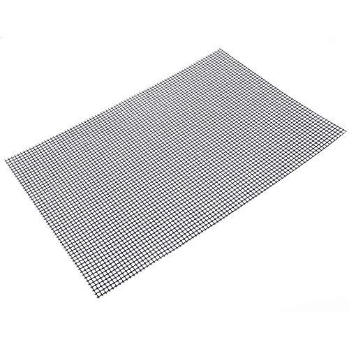 IN THE DISTANCE 3 Stücke Nonstick Glasfaser BBQ Grill Matte Grillen Pad Churrasco Grill Topper Mesh Net Outdoor Camping Picknick Werkzeuge (Color : Silver) -
