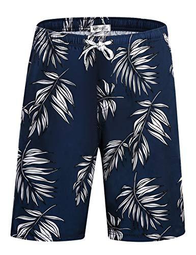 5c8d277b83 APTRO Men's Swim Trunks Beach Shorts Pants Bathing Suits High Waisted Quick  Dry Shark Athletic Shorts