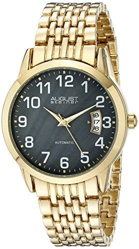 AUGUST STEINER Herren Analog Automatik Uhr mit Legierung Armband AS8026YGB