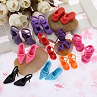 40 Pairs Of Mixed Fashion Shoes High Heels Sandals For Barbie Sindy Doll Outfit Dress Toy