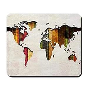 CafePress–mapa del mundo Art–antideslizante de goma ratón, ratón para videojuegos
