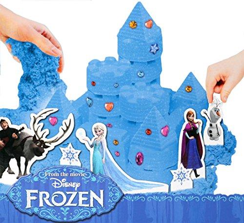 Brigamo FR99904 - Disney Frozen Sandspielzeug Eiskönigin Elsas funkelnder Eispalast aus Knetsand inklusive Förmchen, Figuren und funkelnden Klitzersteinen thumbnail