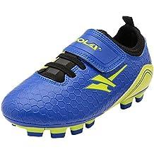 Gola Rapid VX, Jungen Fußballschuhe, Blau (Navy/Lime), 30