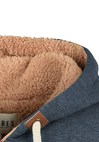 DESIRES Vicky Pile Straight Zip Damen Lange Sweatjacke Cardigan Sweatshirtjacke Mit Teddy-Futter Und Kapuze, Größe:S, Farbe:INS BLU M P (P8991) - 5
