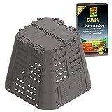 BuyStar Set Compostiera Lt 420 da Giardino + Composter Compo 2 kg | Compostiera Brixio Ecobox Rugby