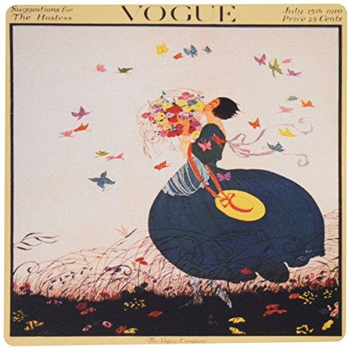 3dRose LLC 20,3x 20,3x 0,6cm Maus Pad, Pretty Lady mit farbigen Schmetterlingen, von Vintage Vogue (MP 163766_ 1) Vintage Vogue-fotos