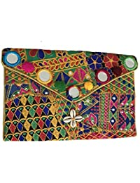 Shubhangi Women's Sling Bag (Jaipuri Embroidered Handicraft Traditional Bags,Multi-Coloured,pattar Embroidery...