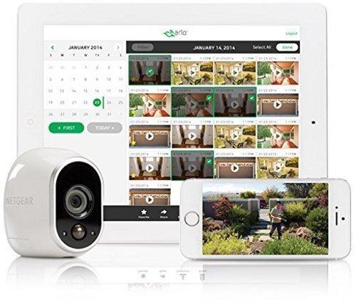 51dqNdKQ88L [Bon Plan Netatmo] Arlo - Caméra additionnelle HD 100% sans Fil, Vision Nocturne, Etanche Intérieure/Extérieure - Compatible avec systèmes Arlo, Arlo Pro et Arlo Pro 2 l VMC3030-100EUS