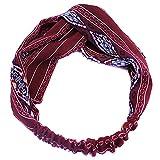 TININNA Donne Vintage modello Rhombus elastico ritorto fascia per capelli Cerchietti archetto hairband turbante Accessori per capelli - TININNA - amazon.it