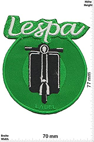 Patches - Vespa - Roller - green - round - Motor sports - Sports Motorcycle Vespa - Iron on Patch - Applique embroidery Écusson brodé Costume Cadeau- Give Away
