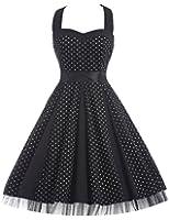 GRACE KARIN® Women's Vintage Polka Dots Picnic Party Halterneck Dress FS006090
