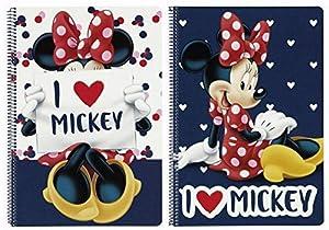 Minnie Mouse - Libreta folio 80 hojas tapas duras (Safta 511748066)