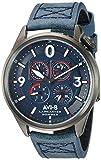AVI-8 Men's Lancaster Bomber 44mm Blue Leather Band Quartz Watch AV-4050-06
