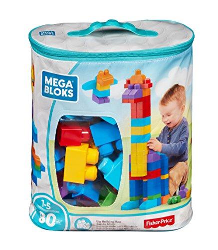 Mega Bloks - Juego de construcción 80 piezas con bolsa ecológica clásica (Mattel DCH63)