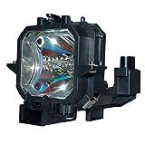 Lampe de Rechange pour projecteur supermait avec Boîtier EP27pour EMP-54/EMP-54C/EMP-74/EMP-74C/V11H136020/V11H137020/PowerLite 54C/PowerLite 74C