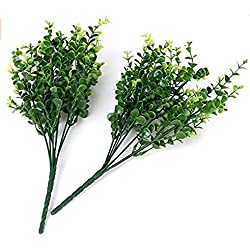 nicebuty 2?x Simulation K?nstliche Kunststoff Pflanze Eukalyptus Gras Gr?n Pflanzen Fake Home Garten Dekoration