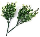 sungpunet 2x Simulation Künstliche Kunststoff Pflanze Eukalyptus Gras Grün Pflanzen Fake Home Garten Dekoration