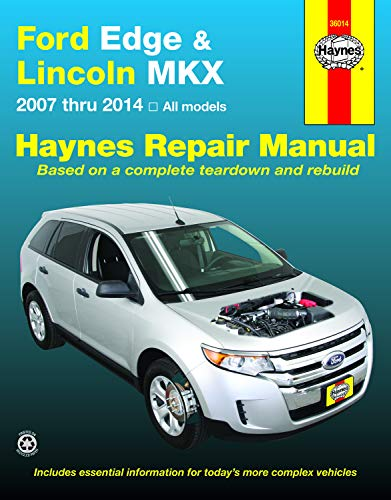Ford Edge and Lincoln MKX (2007-2014) Haynes Repair Manual (USA) (Hayne's Automotive Repair Manual) (Ford 2008 Edge)
