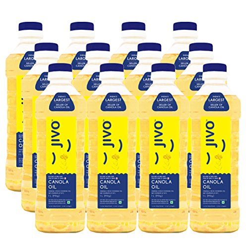 Jivo Canola Refined Edible Oil 1 LTR Pack of 12.