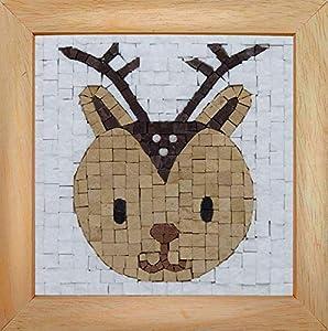 Trois petits points Mosaic Box Deer Face-GEANT 6192459602479 - Caja de Tres Puntos, Universal