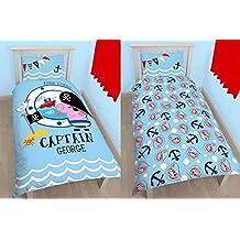 Peppa Pig cama Captain George 140x 200cm almohada 70x 90cm