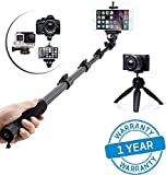 #6: Azacus Remote Bluetooth Selfie Stick and Tripod (Combo Kit) for All Mobile, DSLR and Action Camera | 360 Degree Rotating Monopod | Comes with One Year Product Replacement Warranty (All Over India)