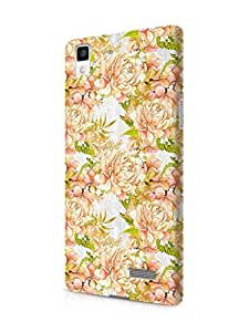 Cover Affair Floral / Flowers Printed Designer Slim Light Weight Back Cover Case for Oppo R7