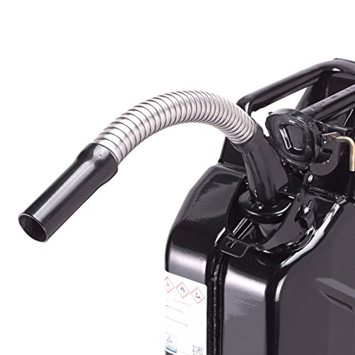 eßer flexibel speziell für Diesel Kraftstoffkanister Benzinkanister - Fehlbetankungsschutz - Schwarz - aus Metall - passend für 5, 10 und 20 Liter Metallkanister ()